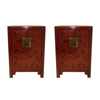 20th Century Chinoiserie Bedside Chests - a Pair For Sale