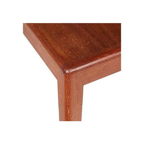 1960s Square Teak Side Table For Sale - Image 5 of 5