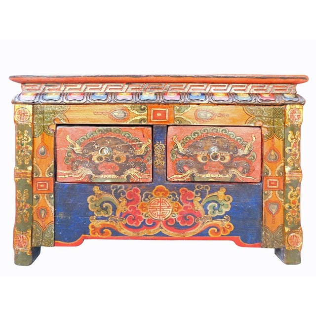 Chinese Tibetan Treasure Motif Small Cabinet - Image 2 of 6