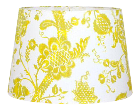 Floral Tapered Drum Lamp Shade