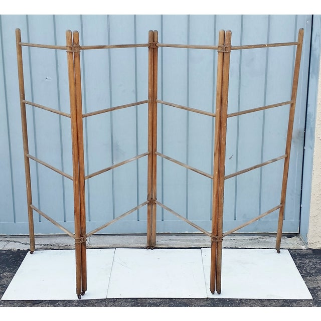 Wood & Metal Folding Rack or Screen - Image 3 of 7