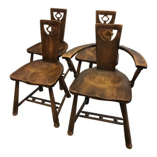 Arts and Crafts Dining Chairs- Set of 4 For Sale