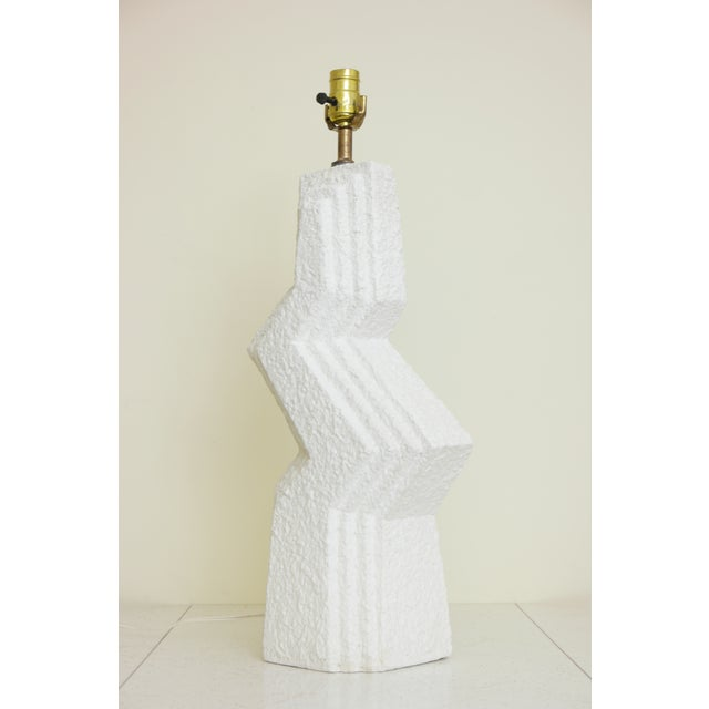 This vintage Art Deco ceramic table lamp will add a sculptural element to your living space. There are no identifying...