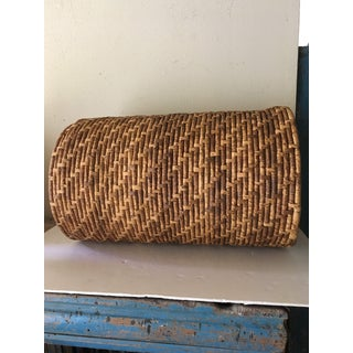 Tall Woven Lidded Basket Preview