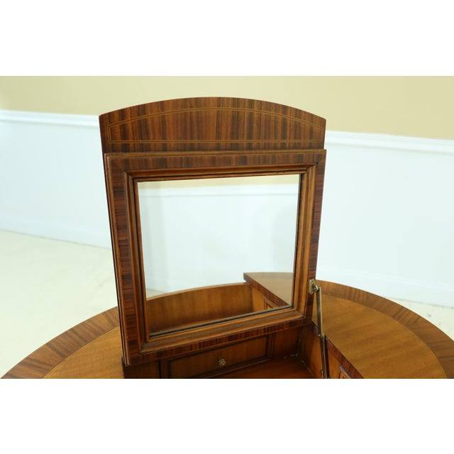 Maitland Smith Satinwood Adam Style Vanity Table For Sale - Image 9 of 12