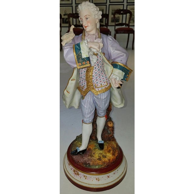 Pair of 18c French Old Paris Porcelain Figurines- A Pair For Sale - Image 12 of 13