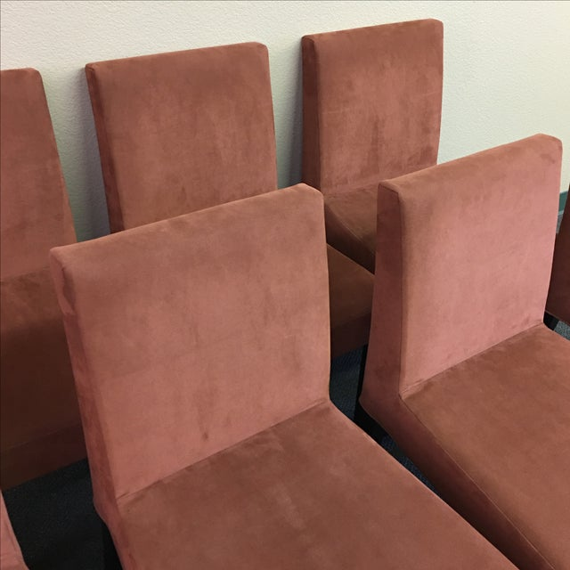 Brown Ligne Roset French Line Dining Chairs - Set of 8 For Sale - Image 8 of 9