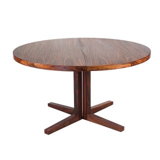 Vintage Danish Modern Rosewood Dining Table For Sale