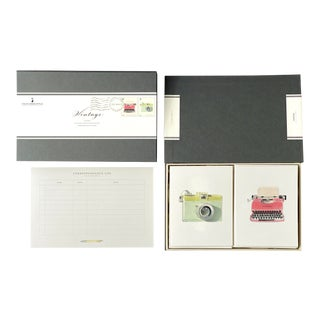 """Vintage"" - Couplet Boxed Stationery - Folded Card Pair - Set of 10 For Sale"