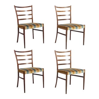 Danish Rosewood Dining Chairs by Johannes Andersen for SVA Møbler - Set of 4 For Sale