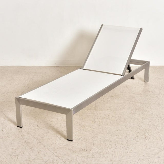 Mid-Century Modern Palm Springs Outdoor Aluminum Lounge Chair For Sale - Image 3 of 13