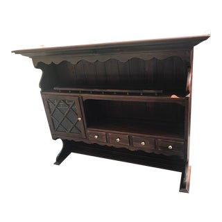 1970 Ethan Allen Antiqued Pine Collection Tavern Hutch Top For Sale