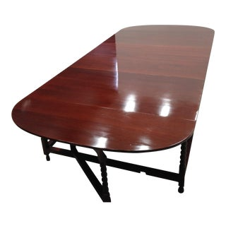 Late Regency Period Mahogany Dining Table For Sale