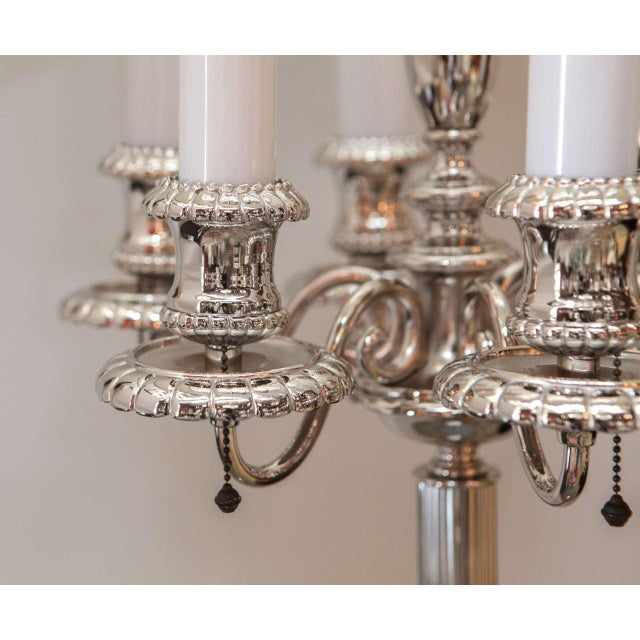 Early 20th Century Georgian Style Candelabra Floor Lamp For Sale - Image 5 of 11