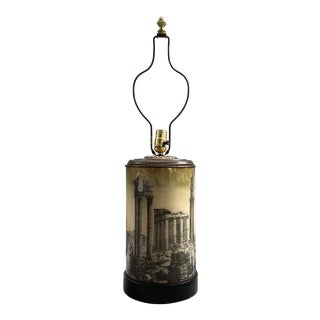 Fornasetti Style Lamp For Sale