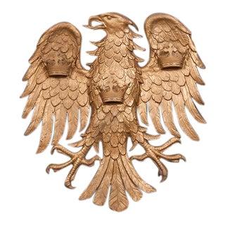 Large Antique Italian Cast Iron Eagle circa 1890 For Sale