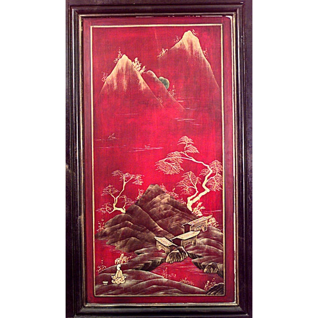 English English Regency Lacquered Chinoiserie Door For Sale - Image 3 of 4