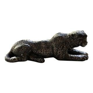 Silvestri Bros Corp Reclining Black Cat Figure For Sale