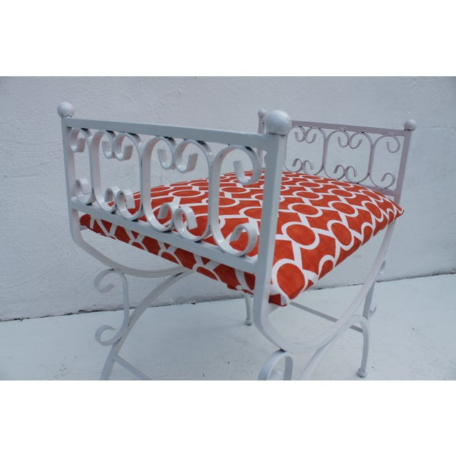 Arthur Umanoff Arthur Umanoff The Granada Collections Iron Bench For Sale - Image 4 of 8