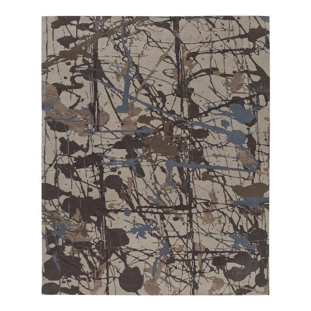 ModernArt - Customizable Lapis Rug (9x12) For Sale