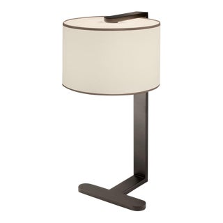 Penny Bronze Shaped Table Lamp With Shade For Sale