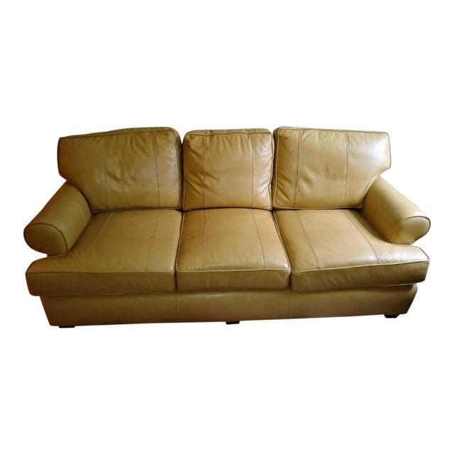 Cool Modern Arhaus Hadley Camel Leather Sofa Evergreenethics Interior Chair Design Evergreenethicsorg