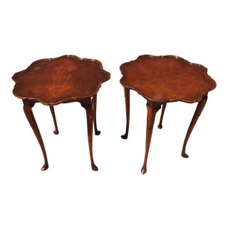 Vintage Traditional Cherry Side Tables - a Pair For Sale