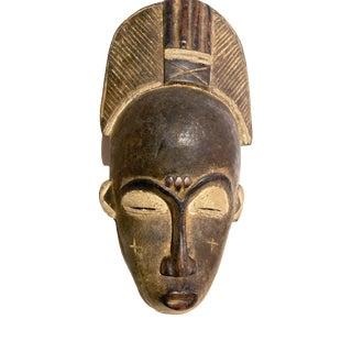 """African Baule Portrait Mask Cote d'Ivoire 13"""" H For Sale"""
