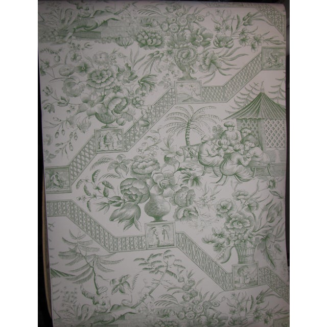 Schumacher Greeff Wallpaper Colonial Williamsburg Reserve Collection pattern Pattern name: Asian Toile Color name: Jade...