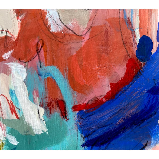 "Blue ""Around the World and Back"" by Gina Cochran Original Abstract Painting For Sale - Image 8 of 13"