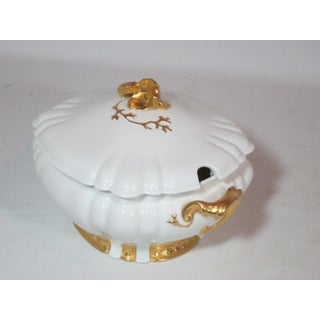 White with Gold Details Haviland Limoge Soup Tureen Preview