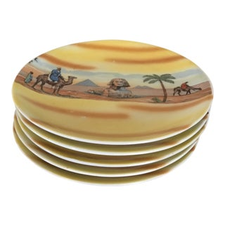 Bavaria China Dessert Plates Egyptian Scenes - Set of 5 For Sale