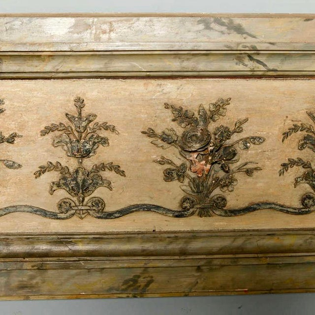 Antique Italian Long Narrow Hand Carved Wood Architectural Piece - Image 5 of 6