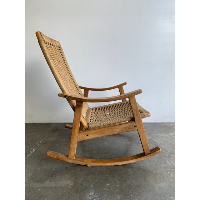 Mid Century Rope Rocking Chair For Sale - Image 10 of 13