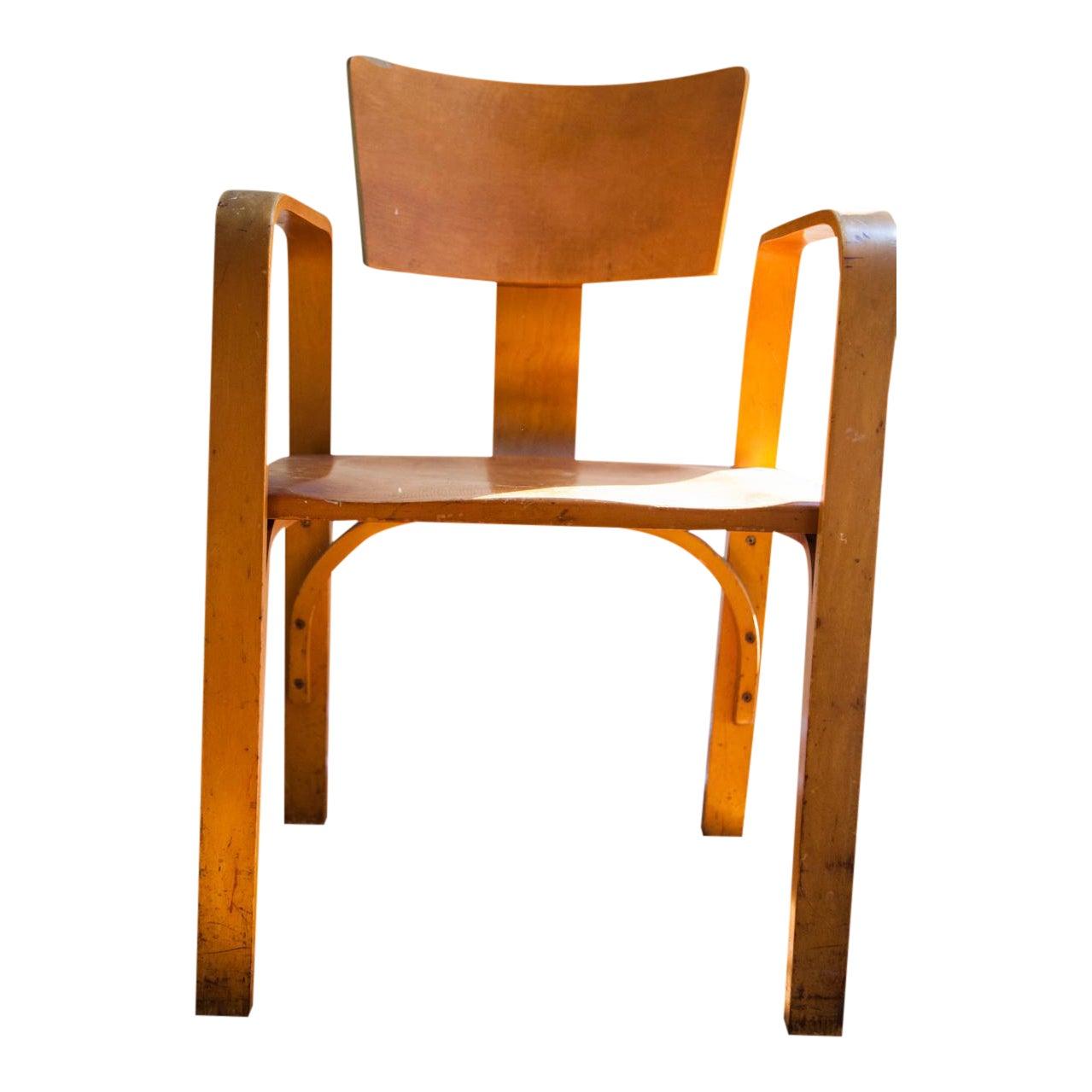 Vintage Thonet Bent Plywood Chair Chairish