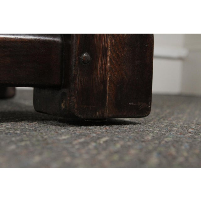 1900s Gothic Oak Console Table For Sale - Image 11 of 13