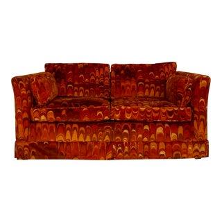 Mid-Century Modern Jack Lenor Larsen Velvet Sofa
