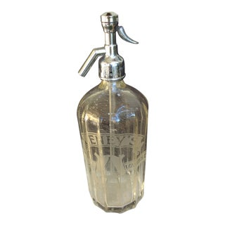 Mid-Century Lenny's Seltzer Bottle With Chrome Top From Wood and Watson For Sale