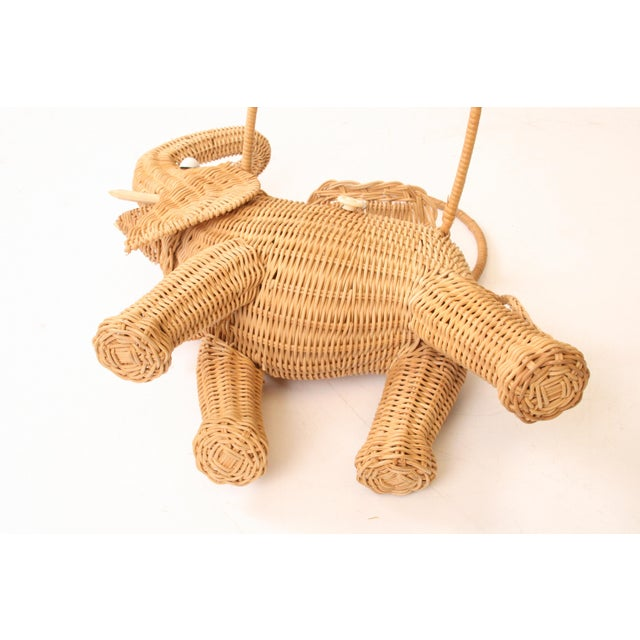 Vintage Wicker Figural Elephant Purse - Image 11 of 11