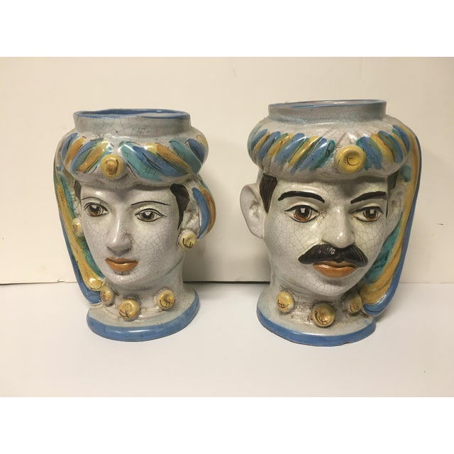 Figurative Sicilian Vases - a Pair For Sale - Image 10 of 10