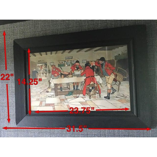Wood Cecil Aldin Hunt Print in Wood Frame For Sale - Image 7 of 8