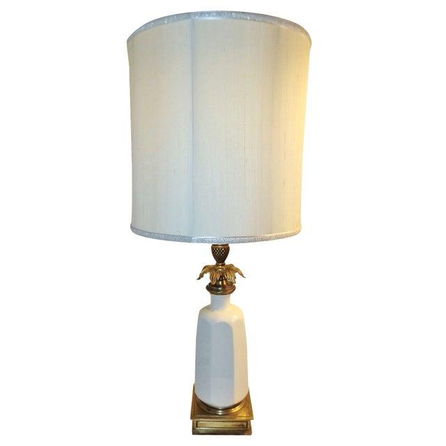 Stiffel Brass & Lenox Porcelain Table Lamp - Image 1 of 9