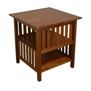 Stickley Mission Collection Cherry Slatted Book Table For Sale
