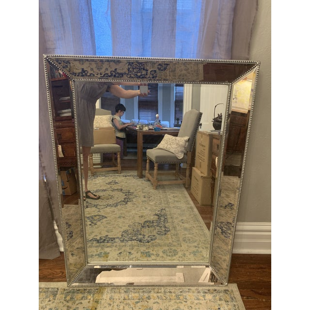 Contemporary Restoration Hardware Venetian Beaded Mirror For Sale - Image 3 of 11