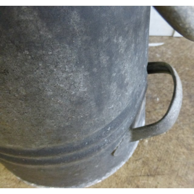 Vintage French Zinc Coal Scuttle -A - Image 6 of 7