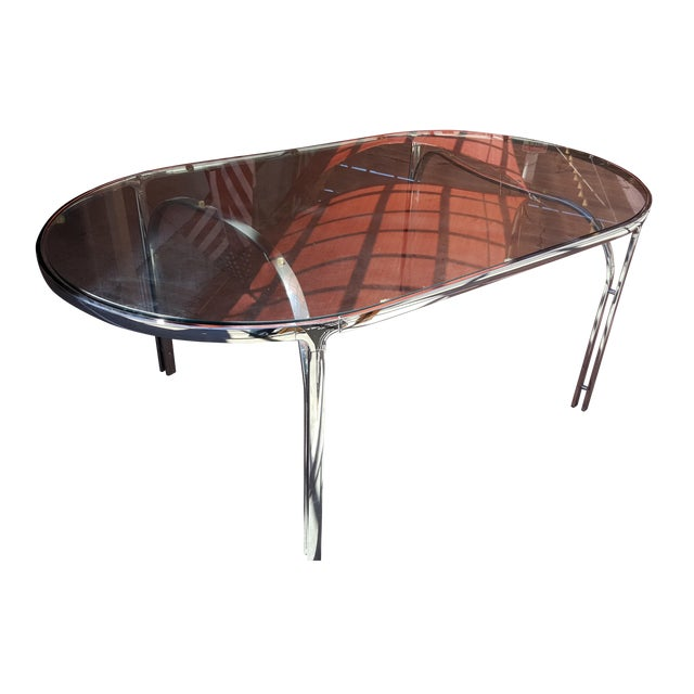 Vintage Polished Chrome Dining Table - Image 1 of 8
