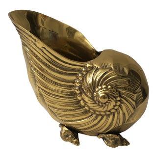 Nautilus Form Brass Cachepot
