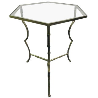 Maison Jansen Bronze Faux Bamboo Table For Sale
