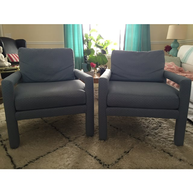 Milo Baughman Style Drexel Club Chairs - A Pair - Image 2 of 6