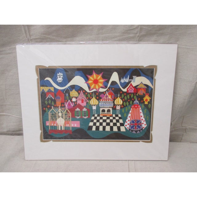 Vintage Walt Disney/Mary Blair Prints With Custom Matting #4 For Sale In Miami - Image 6 of 6